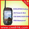 Best ALPS Q1 IP68 Waterproof Rugged Smartphone DMR/dPMR/Analog Walike Talkie 2GB 16GB Buy Cheap Waterproof Cell Phone