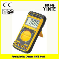 China factory Digital LCD display multimeter with insulated ABS ,backlight indication lock and power automatic cut off function