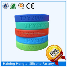 Debossed cheap silicone wristband