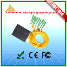 FTTH fiber to home, 1X8 SC APC 0ptical PLC Splitter