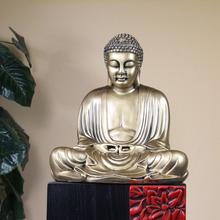 Detailed Carving Resin Gold Buddha Statue Zen Buddha