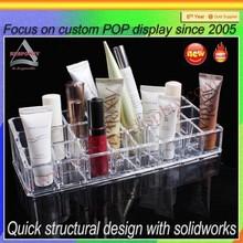 Factory wholesale custom acrylic make up organizer with lipstick holder