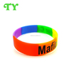 rainbow colors silicone wrist band wedding favors