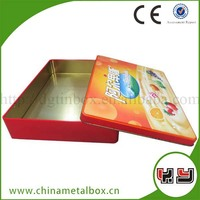 Large Tin Storage Box/Rectangle Cans/Scrap Tin Can