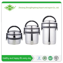 Round shape stainless steel lock and lock food container