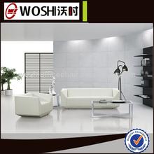 estilo moderno de cuero genuino italiano sofá oficina de diseños