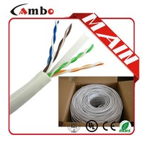 350Mhz 23awg 0.57mm CCA or BC UTP/STP indoor cat 6 outdoor cable