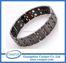 4 elements men's stainless steel energy magnetic bracelet
