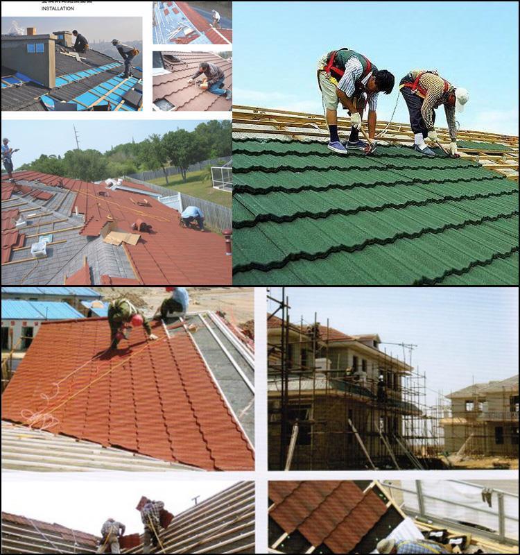 Stone Coated Metal Roof Tiles Plastic Roof Shingle Stone