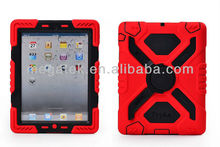 new shockproof silicon+pc protective hard case for ipad 2 3 4 air mini , for ipad case silicone pc ,for ipad air case hybrid