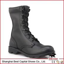 2015 fou vente de haute qualité en cuir pleine fleur bottes militaires armée militaire confortable