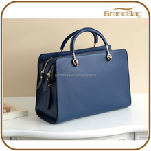 Online Shopping Double Zipper Boston Leather Travel Bag Vintage Case Shape Joint Leather Tote Bag