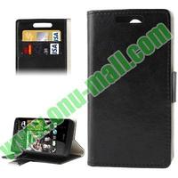 Crazy Horse Pattern flip leather case cover for htc desire 300