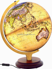 Archaize light globe with wooden base