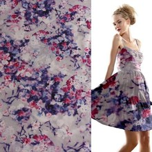 cotton spandex satin fabric printed textiles for girl dress