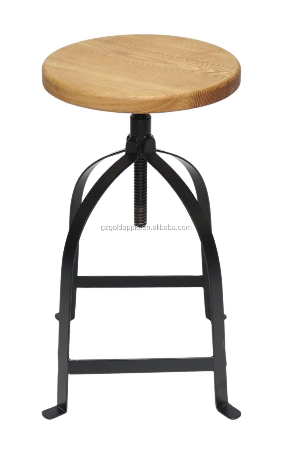 2015 Vintage Bar Chair Metal Industrial With Adjustable Ash Wood Seat Bar Stool Buy Antique