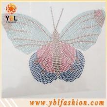 low price hot fix rhinestone motif butterfly design