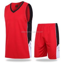 Fashionable new arrival basketball uniform basketball tops