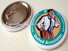 2012 popular promotional gift tinplate badge button