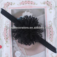 2014 latest December Hot Saling Baby lace Flower Hair Band Infant Toddler Headbands black color