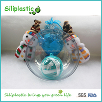 Christmas Decoration Openable Large Clear Ornament Plastic 100mm Balls