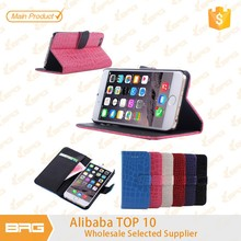 BRG Customize PU Leather Wallet Cell Phone Case For iPhone 6