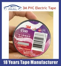 China supplier wholesale adhesive electrical insulation cheap 3m pvc tape waterproof
