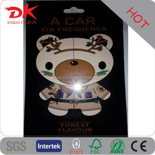 Custom hanging car deodorant good quality paper air freshener