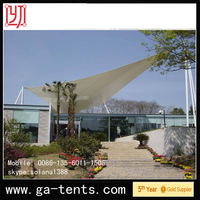 China factory PVDF Cover Q235 Steel auto camping folding tent Guarantee year 10years permanent structure