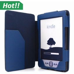 Flip Book Style Leather Case Cover for Amazon Kindle E-reader Smart Cover Auto Wake&Sleep