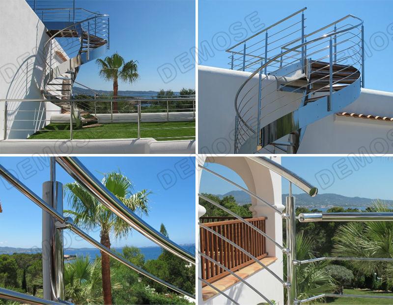 Prefab Metal Stair Railing Indoor Metal Railings Metal Railing Steel Base Pla