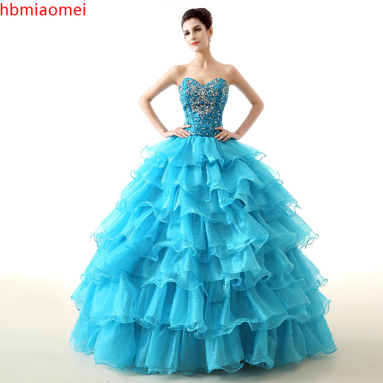 View Larger Image Vivians Bridal New Movie Deluxe Adult Cinderella Wedding Dresses Blue Ball Gown