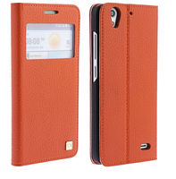 High quality genuine leather phone case for huawei ascend g630
