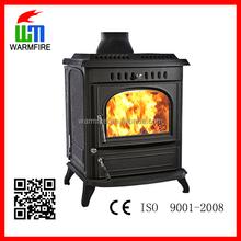 WM704A Popular cast iron freestanding wood burning fireplace