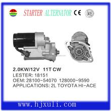Top quality rebuilt 12v auto starter for Toyota OEM: 28100-54070
