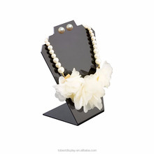 Custom acrylic gold necklace adornment pendant holder, display rack