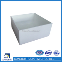 New style low cost melting fused quartz crucibles with cover