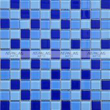 sheet size 300x300 swimming pool crystal glass mosaic tile