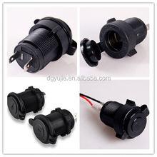 Dual USB output smart socket 12v car cigarette lighter socket with cap