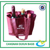 Reusable customized six personalized wine bottles bag
