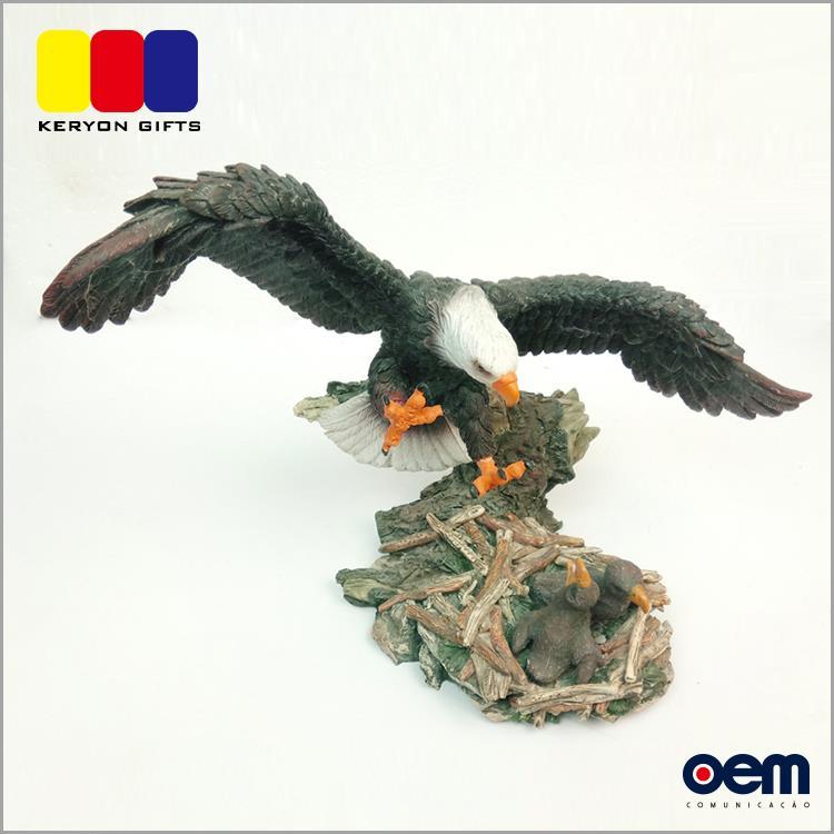 Novos Produtos Personalizados Decoração Animal da Resina Poli Resina Estátua da Águia