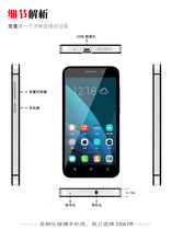 PC metal Double security phone case for huawei honour4x toughened glass