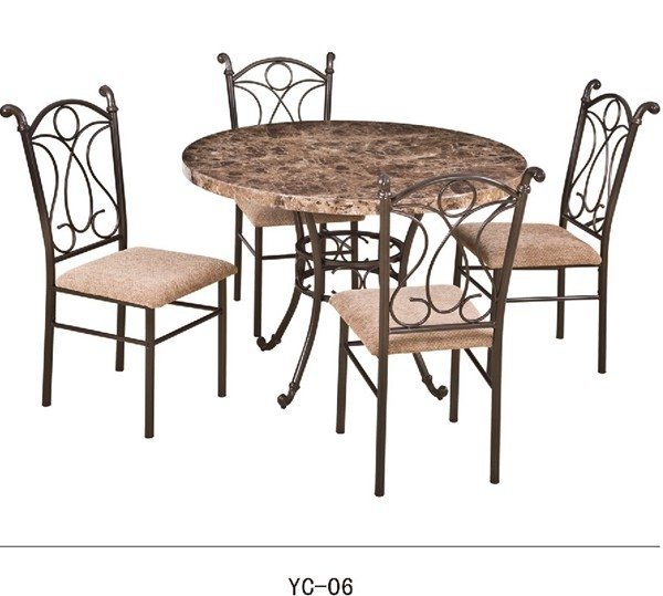 european french style home furniture mdf round dining table and chair