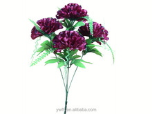 Wedding Flower Decoration Artificial fresh cut Chrysanthemums of 5 Branches indoor ornament fake daisy plants