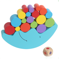 wood blance education toy, moon shape blance toy