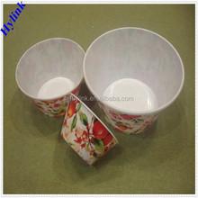 Wholesale large plastic salad bowl set stackable bowl set plastic salad bowl set with lids