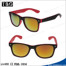 Free sample Plastic sun glasses mirror lens unisex eyewear China wholesale cheap lunette de soleil