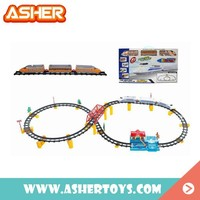 2015 Hot Sale Fashion Kids Battery Operated Plastic Train Tracks Toy Set