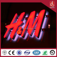 advertising backlit stainless steel LED letter sign and 3d sign letters