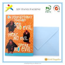 Nice Design Custom Voice Recording Greeting Card For Birthday and new custom handmade 3d christmas greeting card